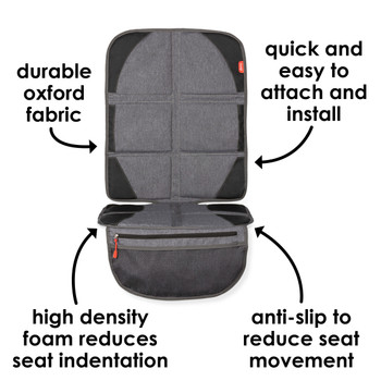 Diono Ultra Mat® Deluxe - Features: Durable oxford fabric, easy to attach and install, high density foam reduces seat indentation, anti-slip to reduce seat movement [Gray]