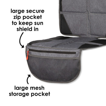 Diono Ultra Mat® Deluxe - Large secure zip pocket to keep sun shield in, large mesh storage pocket [Gray]