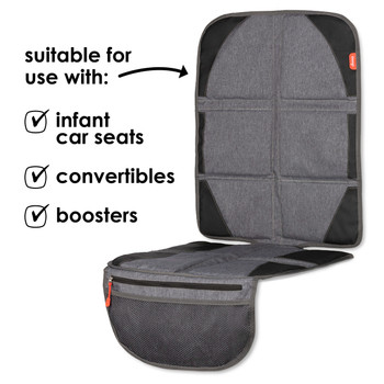 Diono Ultra Mat® Deluxe - Compatible with: Infant car seats, convertibles and boosters  [Gray]