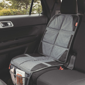 Diono Ultra Mat® Deluxe - Installed on the back seat of a car [Gray]