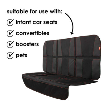 Diono Ultra Mat XXXL - Suitable  to use with: infant car seats, convertibles, boosters, pets [Black]