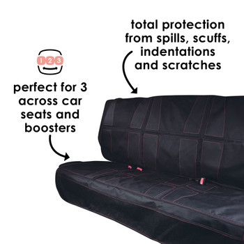 Diono Ultra Mat XXXL - Perfect for 3 across car seats and boosters, total protection from spills, scuffs, indentations, and scratches [Black]