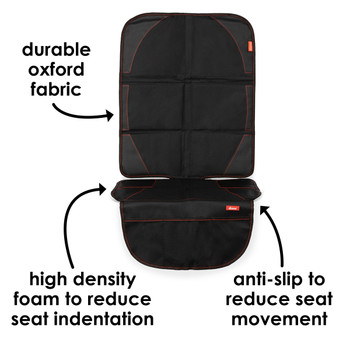 Diono Ultra Mat® - Durable oxford fabric,  high density foam to reduce indentation, anti-slip to reduce seat movement [Black]