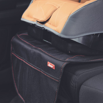 Diono Ultra Mat® - Installed in the back seat of a car close up [Black]