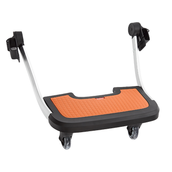 Diono Quantum Hop and Roll Board the perfect buggy board for older siblings to ride along [Orange]