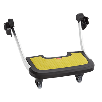 Diono Quantum Hop and Roll Board the perfect buggy board for older siblings to ride along [Yellow]