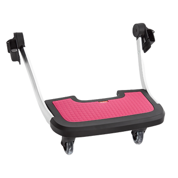 Diono Quantum Hop and Roll Board the perfect buggy board for older siblings to ride along [Pink]
