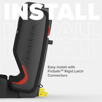 Easy install with FixSafe rigid latch connectors [Black Jet]
