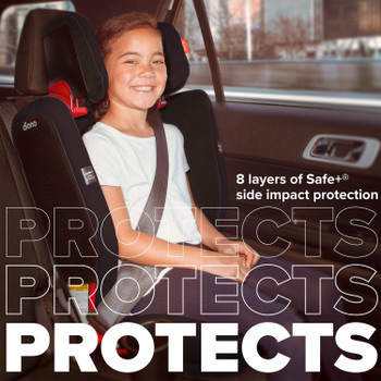 8 layers of safe+ side impact protection [Black Jet]