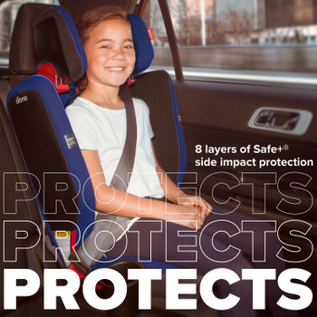 8 layers of safe+ side impact protection [Blue Sky]