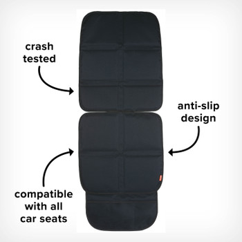 Image cut out of Ultra Mat Seat Protector, Crash Tested, Anti-Slip Design and Compatible with all Car Seats, Black [Black Gray] [Blue Sky] [Purple Plum]