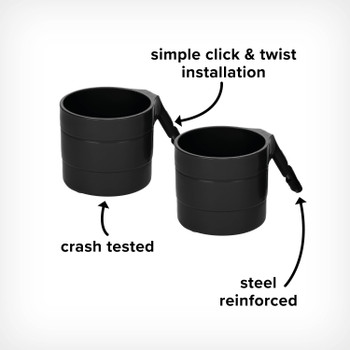 Image cut out of Radian Steel Reinforced Cup Holders, with Simple Click and Twist Installation and Crashed Tested for Added Safety [Black Gray] [Blue Sky] [Purple Plum]