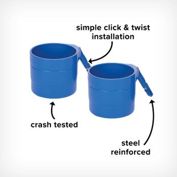 Image cut out of Radian Steel Reinforced Cup Holders, with Simple Click and Twist Installation and Crashed Tested for Added Safety [Blue Sky]