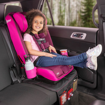 Diono Radian 3RXT All In One Convertible Car Seat with Child Seated in Forward Facing Position including Extra Cup Holder and Ultra Mat Seat Protector with Storage Pockets [Purple Plum]