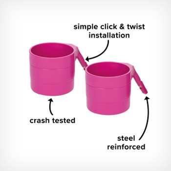 Image cut out of Radian Steel Reinforced Cup Holders, with Simple Click and Twist Installation and Crashed Tested for Added Safety [Purple Plum]