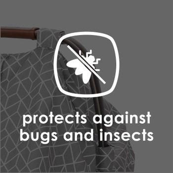 Infant Car Seat Cover protects against bugs [Gray]