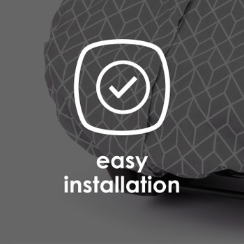 Infant Car Seat Cover is easy to install [Gray]