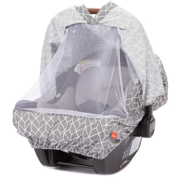 Infant Car Seat Cover with insect net [Gray]