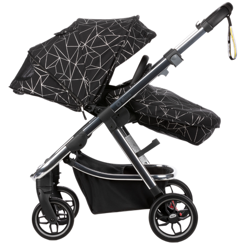 Diono Excurze Luxe Baby, Infant, Toddler Stroller [Black Platinum]