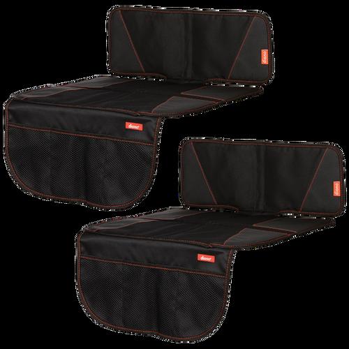 Super Mat 2 Pack Car Seat Protectors For Under Car Seat [Black]
