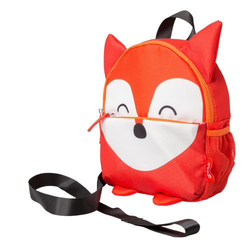 Character Kids Mini Back Pack Toddler Leash & Harness for Child Safety, With Padded Shoulder Straps For Child Comfort [Fox]