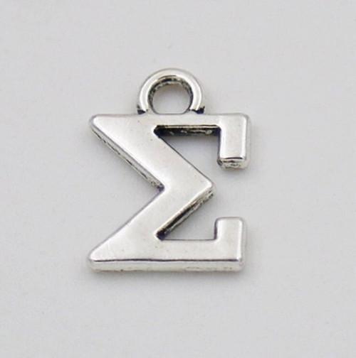 Sigma Greek Letter Charm