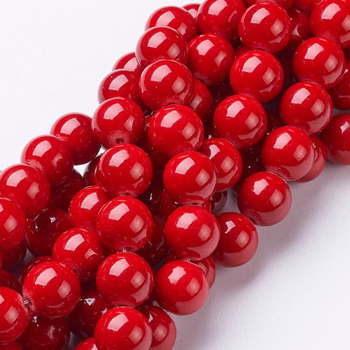 Red Mountain Jade Beads, Round, 10mm