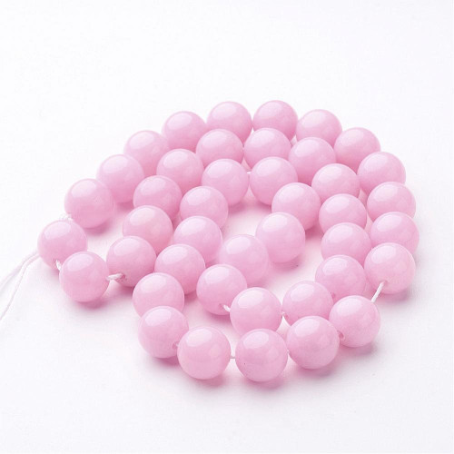 Pink Mountain Jade Beads, Round, 10mm