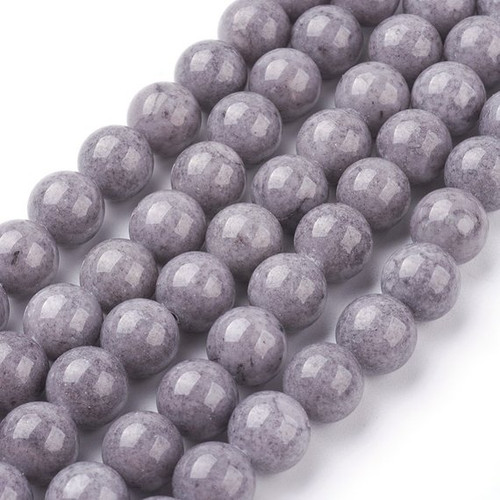 Grey Mountain Jade Beads, Round, 10mm