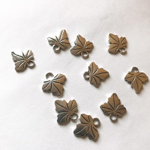 Mini Silver Ivy Leaf Charm