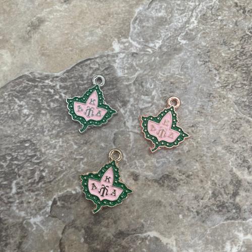AKA Pink & Green Ivy Charm