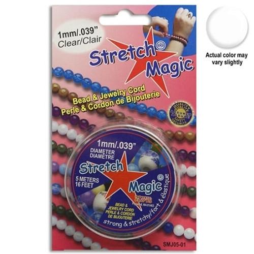 1mm Clear Stretch Magic Beading Cord, 5m Spool