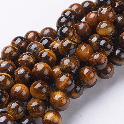 Tigers Eye Beads sized at 10mm