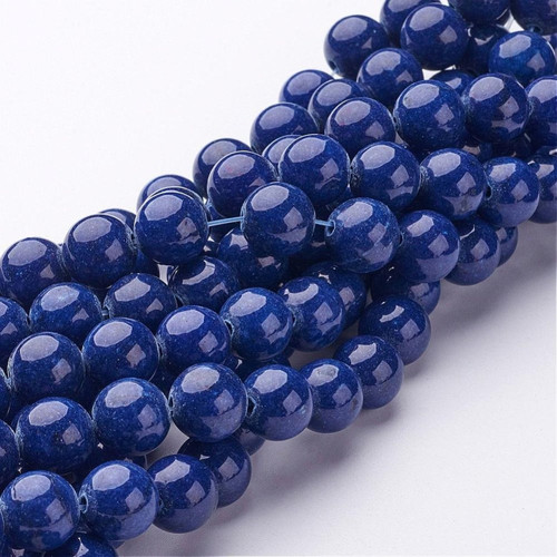 Blue Mountain Jade Beads, Round, 10mm