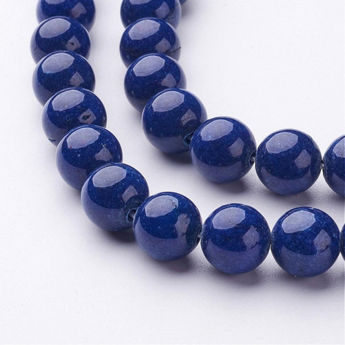 Blue Mountain Jade Beads, Round, 8mm