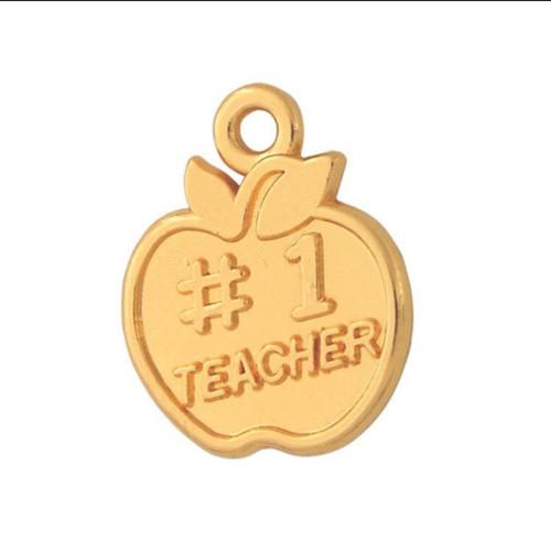 Number 1 Teacher Charm