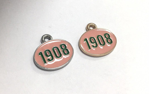 1908 Charm, Pink & Green