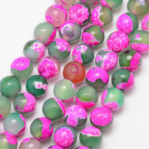 Fire Agate, Pink & Green,  10mm
