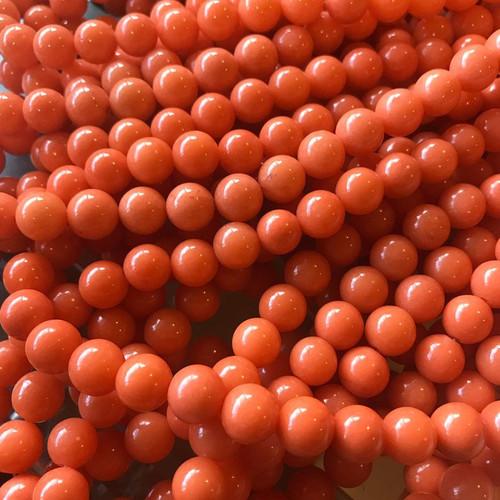 Orange Mountain Jade Beads, Round, 10mm