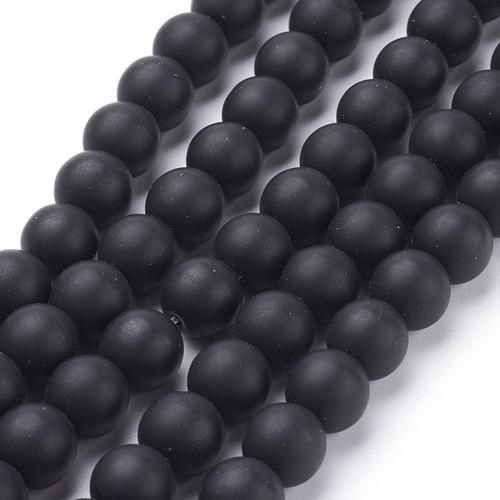 Matte Onyx Beads, Round, 10mm
