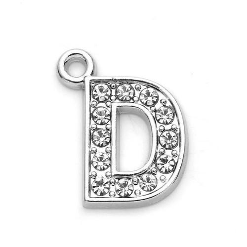 Rhinestone Letter Charm D