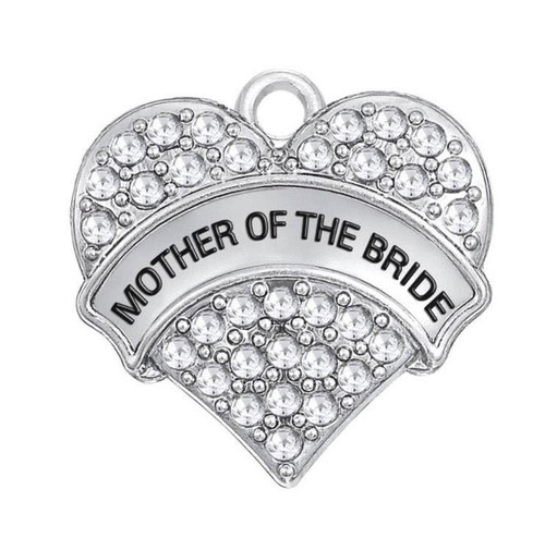 Rhinestone Heart Charm, Mother of the Bride