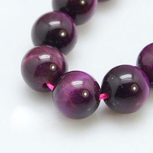 Pink Tiger Eye Beads, 10mm