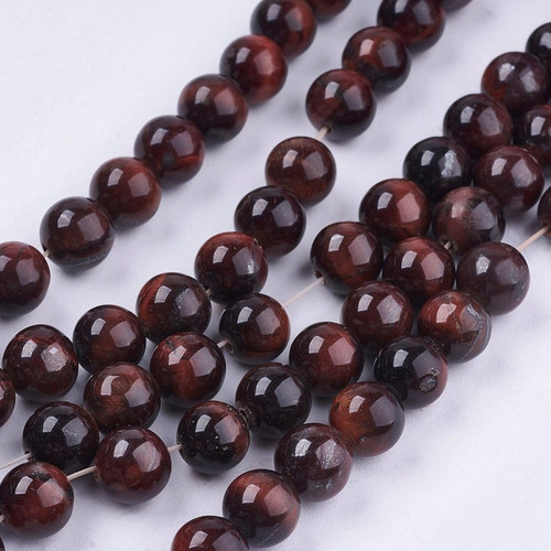 Red Tiger Eye Beads, 8mm