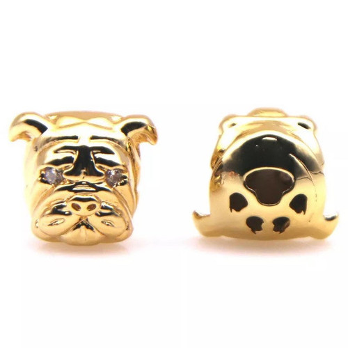 Bulldog Head Bead, CZ
