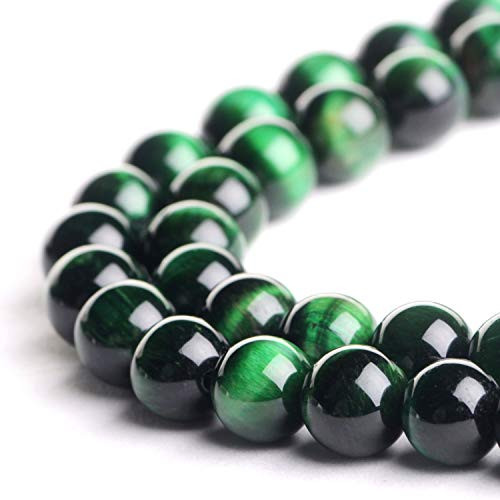 Green Tiger Eye Beads, 10mm