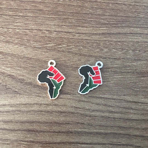 Black Power Africa Fist Charm