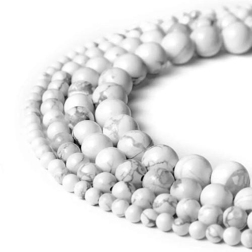 Howlite Beads, 10mm - 15 inch strand