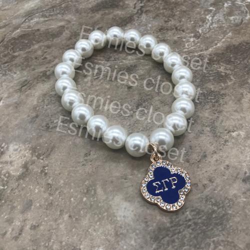Sigma Gamma Rho Pearl Bracelet- SG103