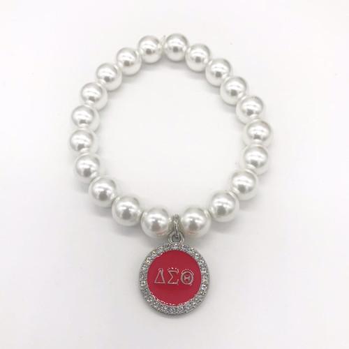 Delta Sigma Theta Pearl Bracelet -D106